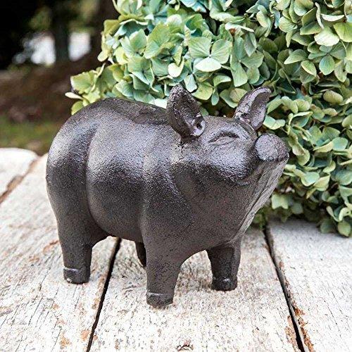 Cast Iron Small Piglet Garden Statue