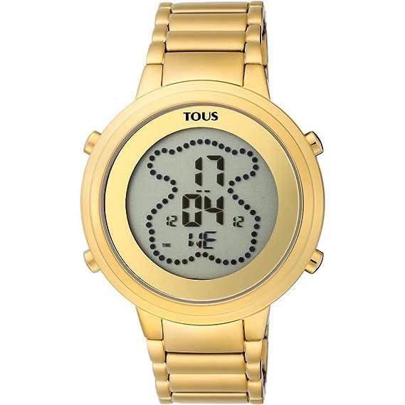 nuevo concepto 5de4c 1ada1 Reloj Tous 900350035 Digital Digibear de Acero IP Dorado ...