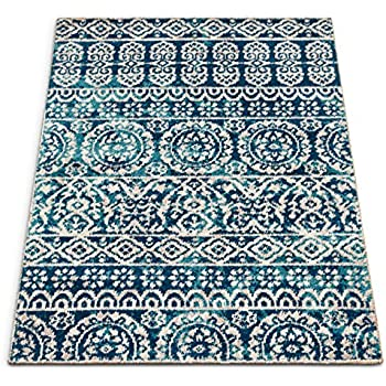 Amazon Com Well Woven Djemila Medallion Blue Vintage