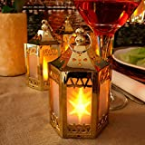 LampLust-Set-of-6-Gold-Mini-Holographic-Star-Battery-Operated-Plastic-Lanterns