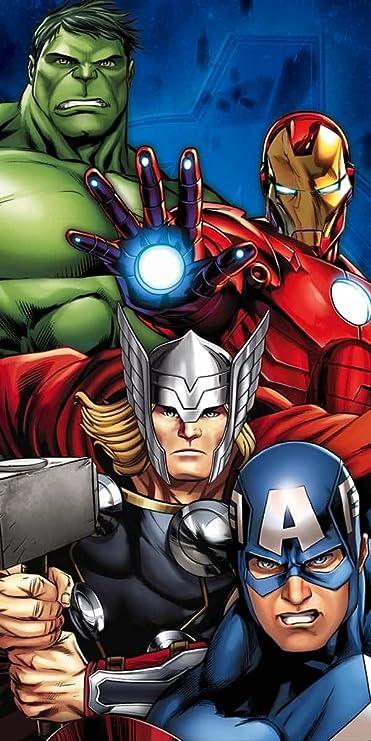 Blu Star Licensing Asciugamano da Bagno Avengers 100/% Cotone 140x70x0.5 cm
