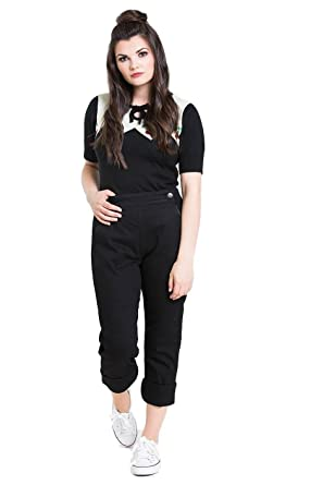 d2f357bcd0 Hell Bunny Charlie Denim Jeans 50s Vintage Retro Capri Trousers 3/4 Pedal  Pushers at Amazon Women's Jeans store