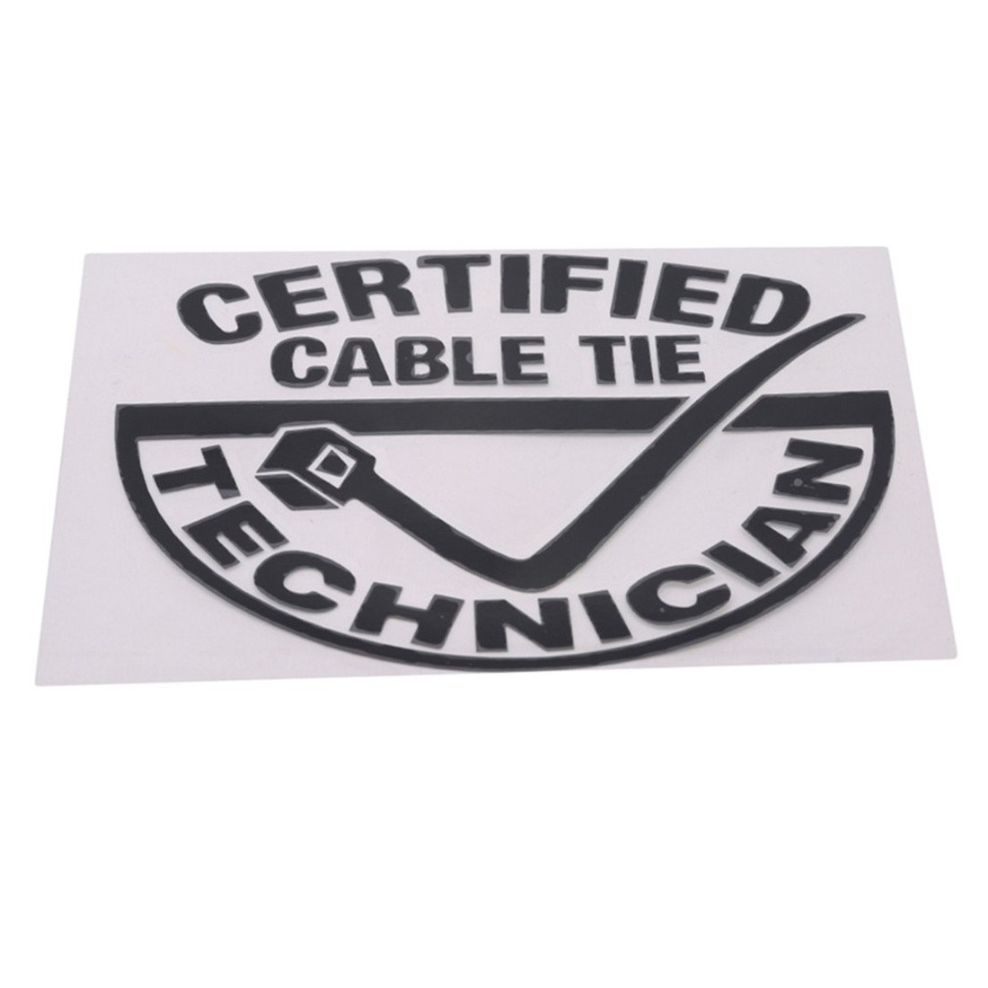 CERTIFIED CABLE TIE TECHNICIAN Decal Vinyl Car Window Sticker ANY SIZE Auto Parts and Vehicles