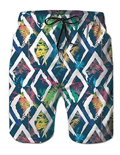 Uideazone Mens Summer Hawaiian Aloha Boardshorts Bathing Trunks Popular Trunks ()