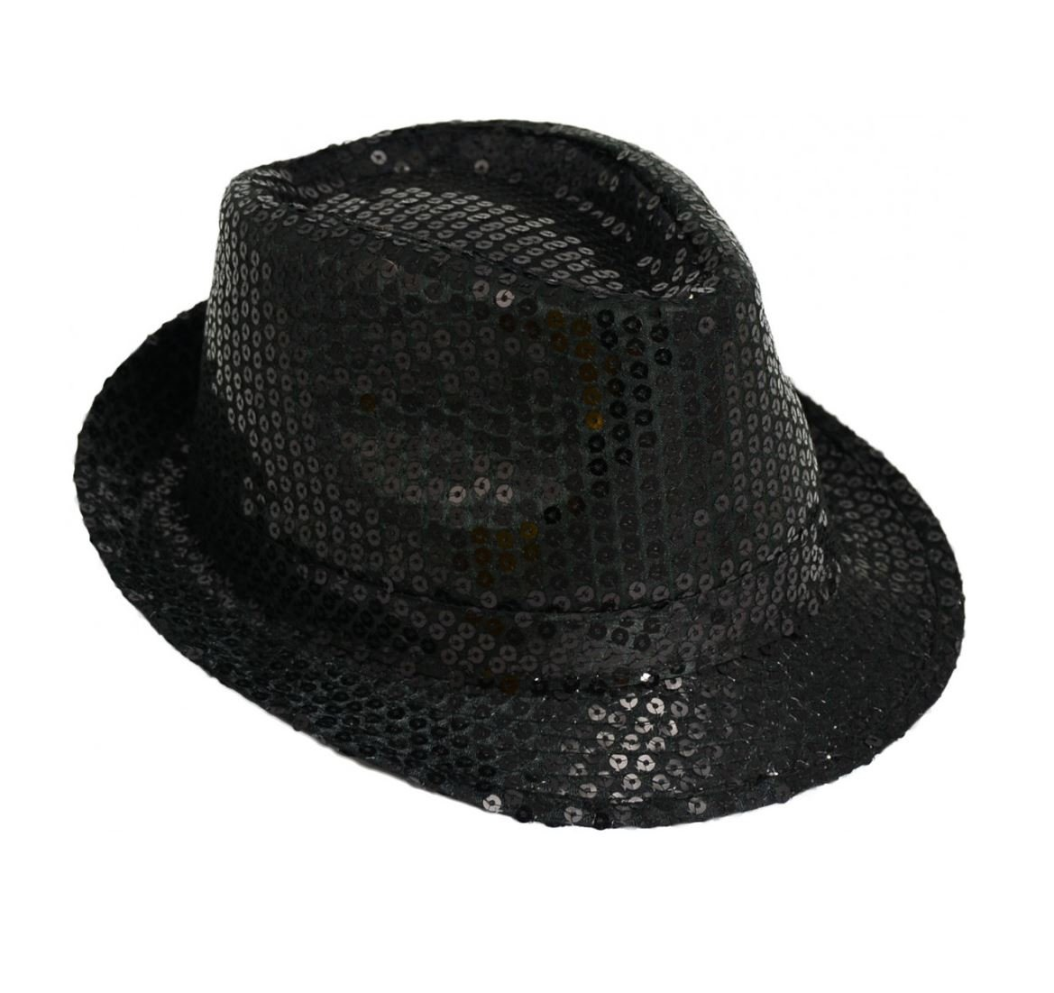 Michael Jackson Sequin Fancy Dress Fedora Trilby Hat  Amazon.co.uk  Toys    Games 7deeb31f6c88
