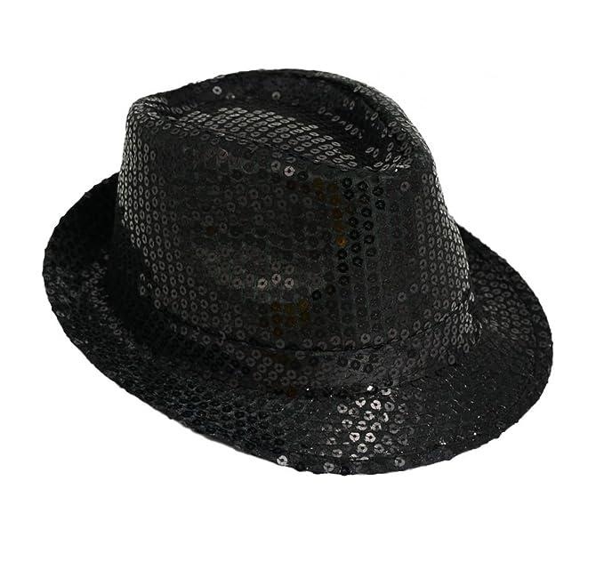 Michael Jackson Lustrini Costume Cappello Trilby Fedora  Amazon.it   Abbigliamento 43d819c2d6ac