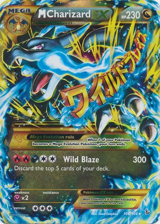 Pokemon - Mega-Charizard-EX (108) - XY Flashfire - for sale  Delivered anywhere in USA