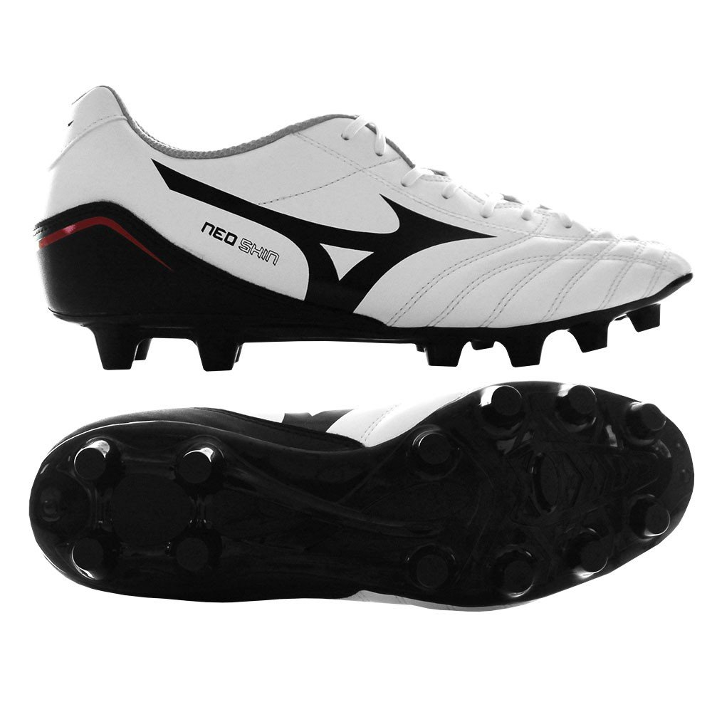 Mizuno Schuh Fußball Herren Neo Shin MD weiß schwarz rot