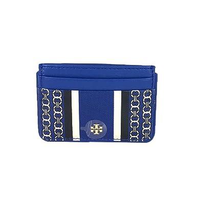 new arrival fd35e 66ea4 Tory Burch Gemini Link Slim Card Case in Jewel Blue at Amazon ...