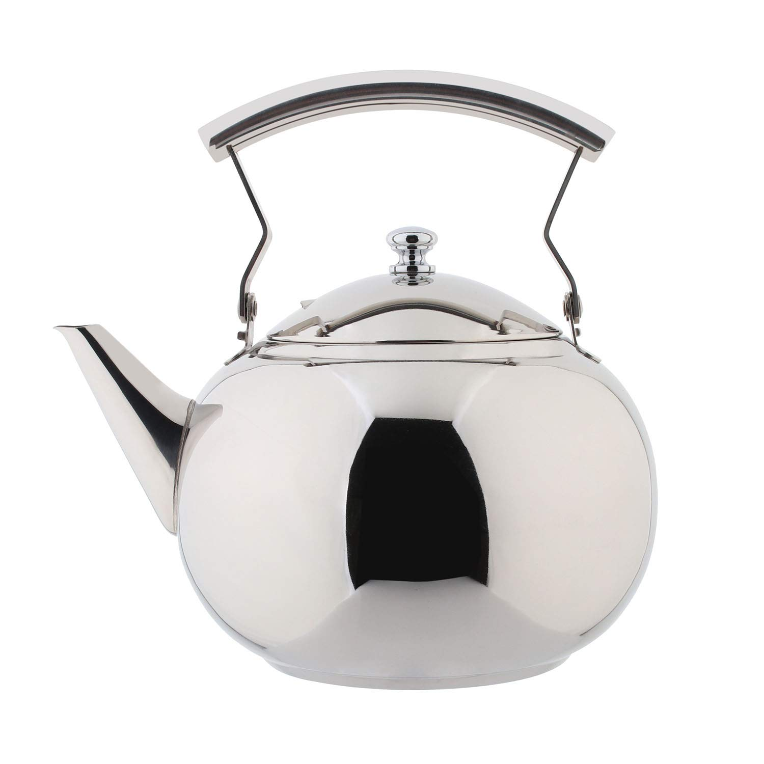 OMGard Teapot with Infuser Loose Tea Leaf 2 Liter Stainless Steel Tea Pot Coffee Water Small Kettle Filter Set Warmer Teakettle for Stovetop Induction Stove Top 2.1 Quart / 68 Ounce