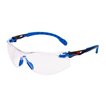 3M Solus Safety Glasses, Blue Black frame, Scotchgard Anti-Fog, Clear Lens,  S1101SGAF-EU  Amazon.co.uk  Business, Industry   Science 26dce8da32b1