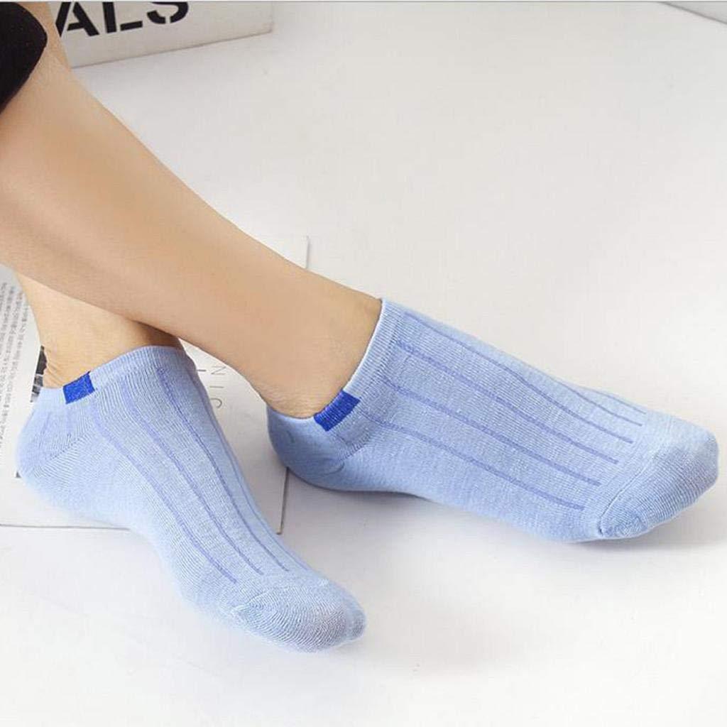 SHOBDW Mujeres Hombres Unisex Suave Cómoda Raya Linda Sólido Puro Básico Casual Algodón Zapatillas Calcetines Calcetines Cortos Calcetines de Tobillo 1 ...