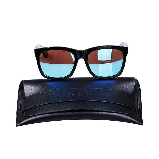IMAGE Gafas de Sol Polarizadas UV400 Mujer/Hombre por Conducir, Ciclismo, Pescar, Golf, Playa, etc?Marco de Negro + Lente de Azul: Amazon.es: Ropa y ...