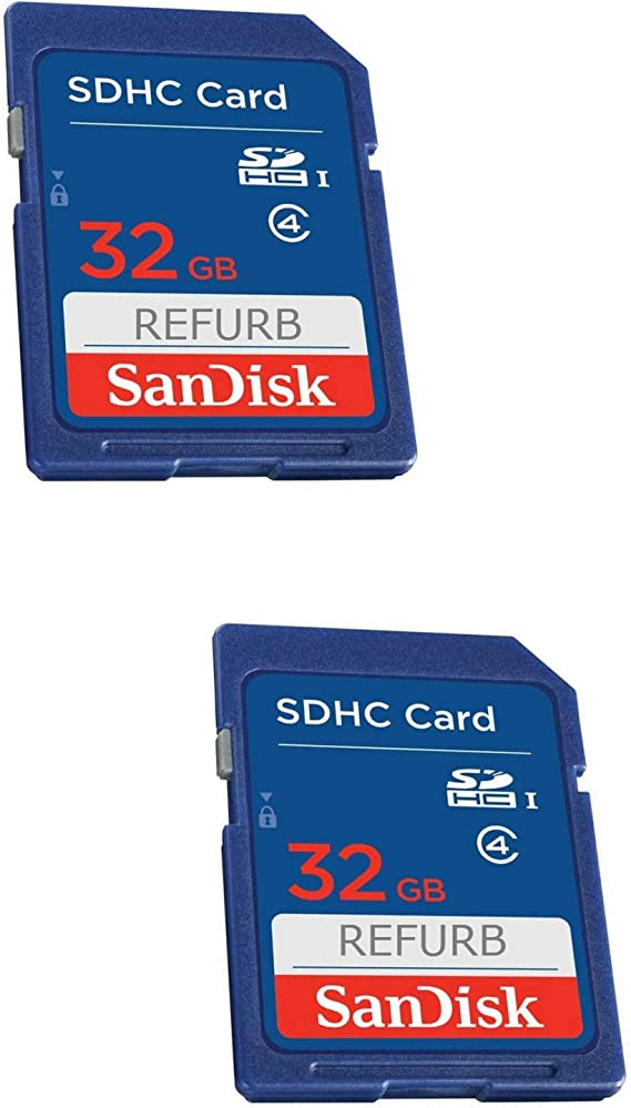 SanDisk 32GB Class 4 SDHC Flash Memory Card - 2 Pack SDSDB2L-032G-B35