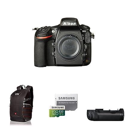 Nikon D810 FX-format Digital SLR Camera Body Deluxe Battery Grip Bundle