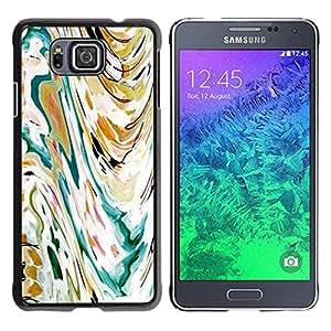 For Samsung GALAXY ALPHA G850 Case , Art Painting Watercolor Waves - Diseño Patrón Teléfono Caso Cubierta Case Bumper Duro Protección Case Cover Funda