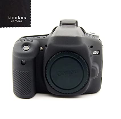 kinokoo 80d - Funda para Cámara de silicona para Canon Digital SLR ...