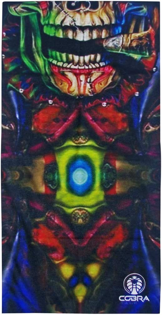 Bandana Skull Smoking | Stretch | 140 g/m² poliéster anti-UV | 25 x 50 cm | Pañuelo multifunción estampado I Face Shield de microfibra para moto, bicicleta y esquí (Skull Sigar)