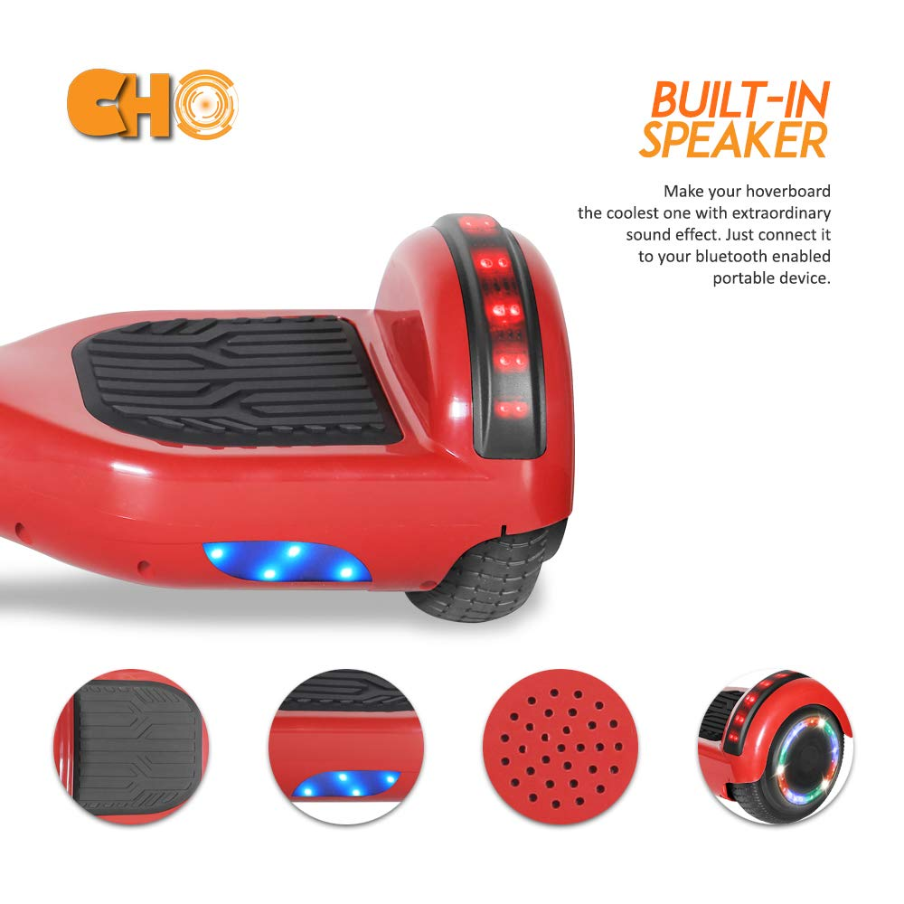 UL2272 Certified Cho Electric Self Balancing Dual Motors Scooter Hoverboard with Built-in Speaker and LED Lights
