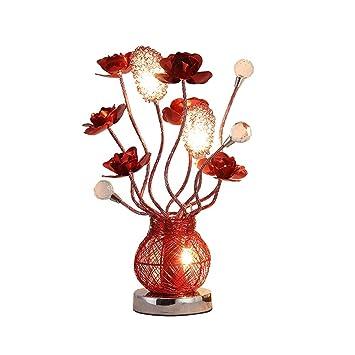 Lámpara de Mesa cristalina del LED Rose, forja de Aluminio ...