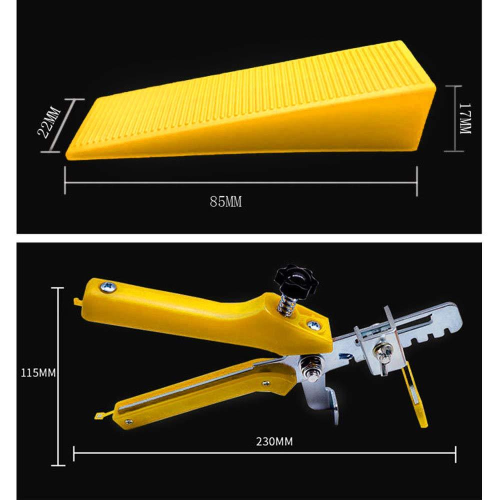 Globaldream Sistema de nivelaci/ón de azulejos Separadores de nivelador de azulejos DIY 1 MM 100 piezas de cu/ñas reutilizables y 1 alicate de azulejos 100 piezas de clips espaciadores de nivelaci/ón