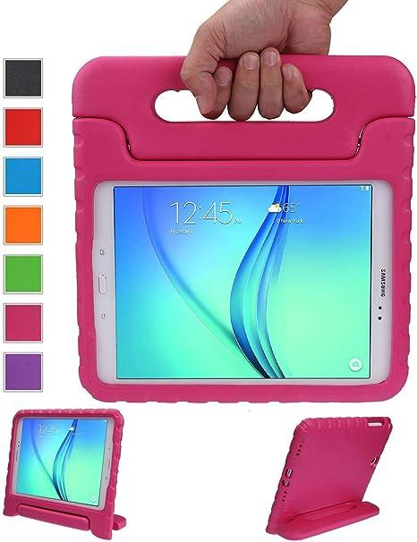 LEADSTAR Kinds Funda para Samsung Galaxy Tab A 9.7 Caso niños EVA destinado a Prueba de Golpes Cubierta Estuche Protector Caso para Samsung Tab A SM-T550 P550 9.7 Pulgadas (Rosa): Amazon.es: Informática