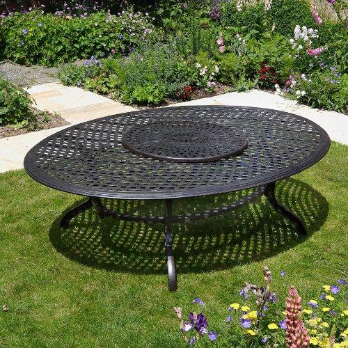 Victoria 250 x 180cm ovales Aluminium Gartenmöbelset - 1 Victoria Tisch + 10 JANE Stühle