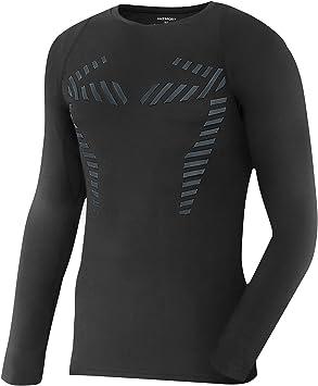 AMZSPORT Camisa de Compresión para Hombre Camiseta Deportiva de Manga Larga Entrenamiento Running Top: Amazon.es: Deportes y aire libre