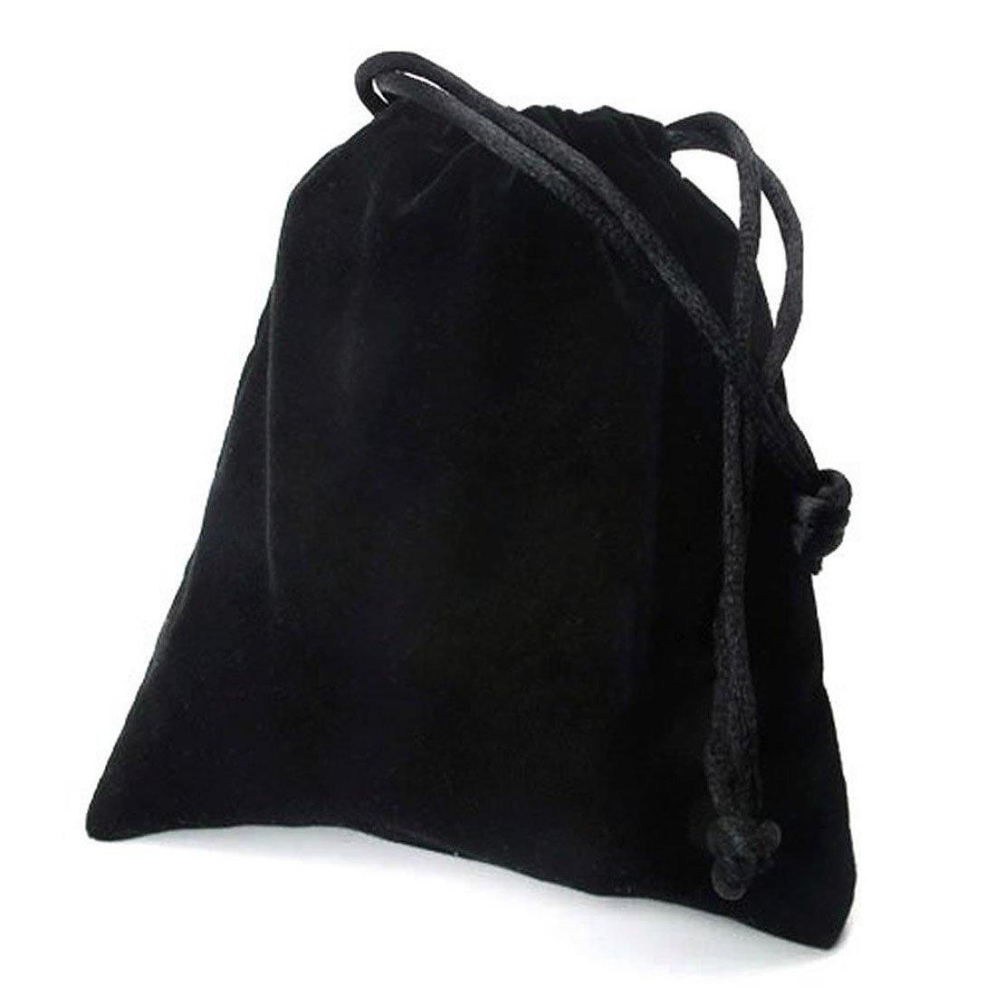 Longitud 19cm TOOGOO Pulsera de joyeria Negro Pulsera de cuero trenzado acero inoxidable de cuero R Pulsera para hombres mujeres Ancho 6mm