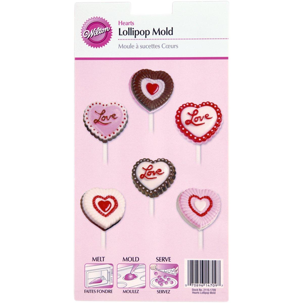 Wilton Lollipop Mold, Hearts