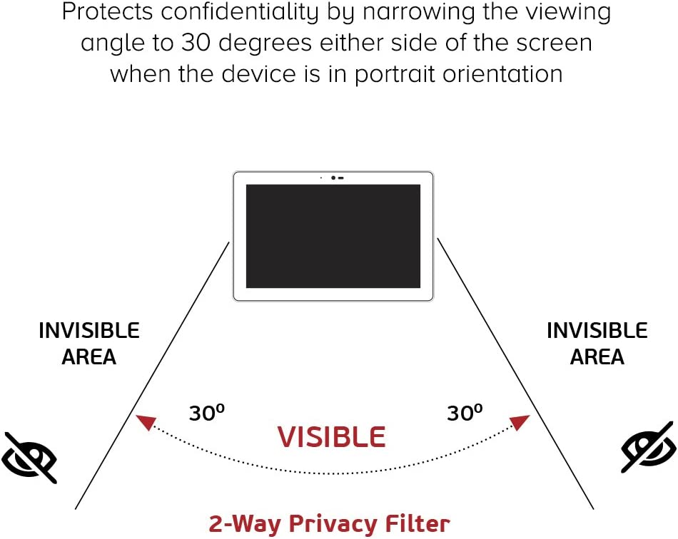 Celicious Privacy Lite 2-Way Anti-Glare Anti-Spy Filter Screen Protector Film Compatible with Panasonic Toughbook CF-33