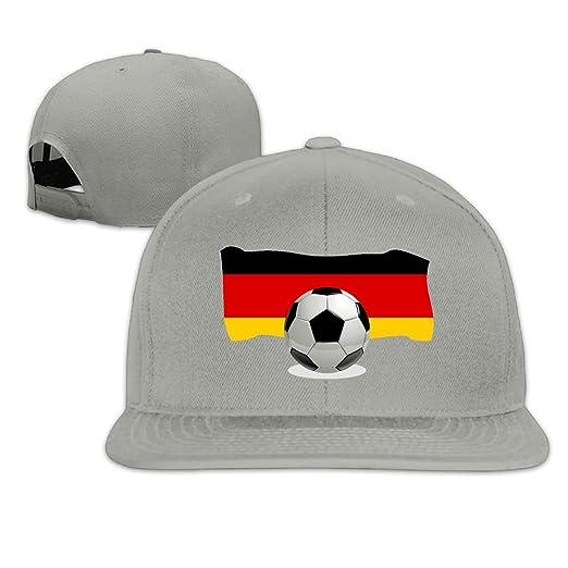 c454c0cf59d Soccer Ball with Germany Flag Plain Adjustable Snapback Hats Men s Women s  Baseball Caps at Amazon Men s Clothing store