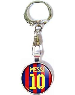 Amazon.com: Llavero de camiseta de Lionel Messi de Barcelona ...