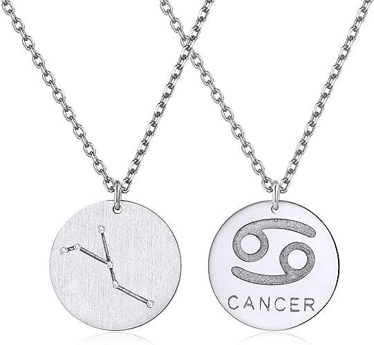 ChicSilver Krebs Kette Sternzeichen Anhänger 925 Silber