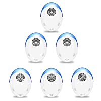Ultrasonic Pest Repeller, 6 Packs, 2020 Upgraded, Indoor Electronic and Ultrasonic...