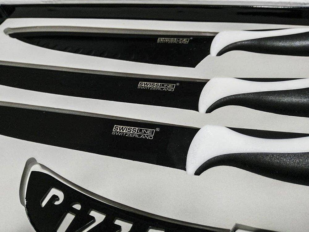 Set cuchillos calidad extra recouverts cerámica Swiss Line Switzerland 6 piezas: Amazon.es: Hogar