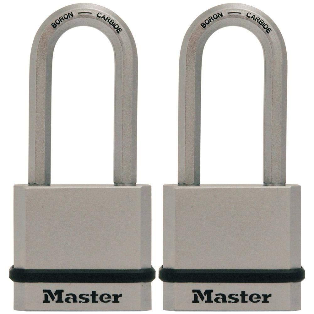 Master Lock M530XTLH Magnum Solid Steel Keyed Alike Padlocks, 2 Pack by Master Lock