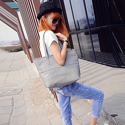 Bag Outsta Classic Gray Ladies Pure Bag Gray Basic Celebrity Casual Leather Messenger Large Women Shoulder Color Travel Backpack Daypack Handbag UXxE6X