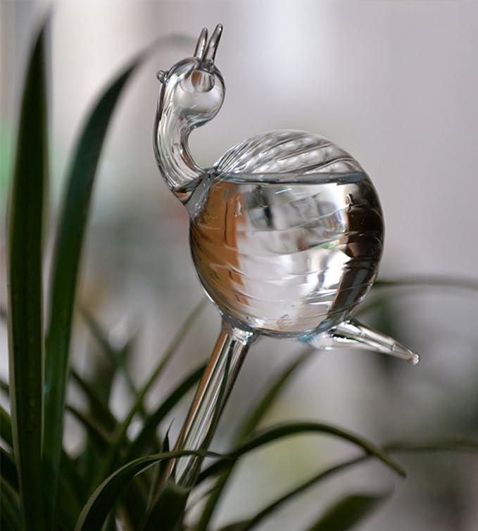 Amazon.com: 2pcs Caracol Forma vidrio Transparente soplado a ...