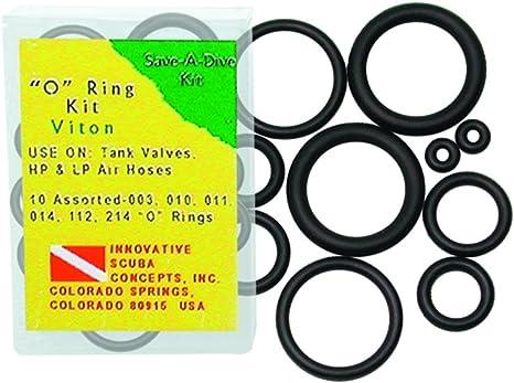 Innovative Scuba Concepts Scuba O-Ring Kit for The Prepared Diver