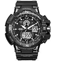 SMAEL Reloj Electrónico Pantalla Doble Luz Fría Reloj Electrónico Impermeable Multifunción Montañismo Reloj Llevado De Los Hombres