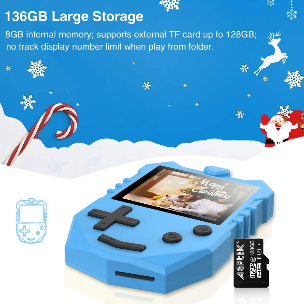 MP3 Player for Kids, AGPTEK K1 Portable 8GB Children Music Player with Built-in Speaker, FM Radio, Voice Recorder, Expandable Up to 128GB, Blue, Upgraded Version by AGPTEK (Image #4)