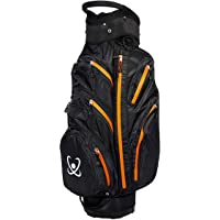 100% GUARANTEED Waterproof Golf Cart Bag 2017 stock Black/Orange