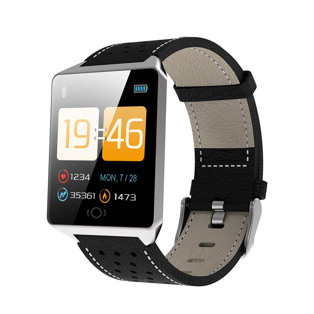 Buybuybuy Smart Watch,CK19 1.3 inch TFT Screen Display IP67 Sport Watch Smartwatch Fitness Tracker Step Counter Smart Pedometer for Samsung Android for Men Women Kids (Silver)