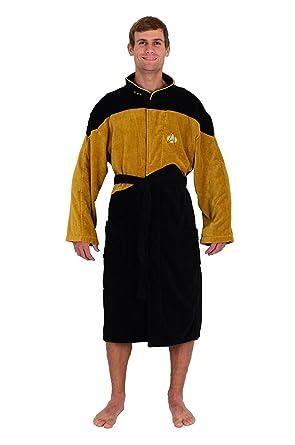Robe Factory Men's Star Trek NG Gold Security Bathrobe, Gold, Black, OS