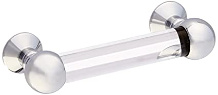 Baldwin 4343260 Crystal Cabinet Pull, Bright Chrome