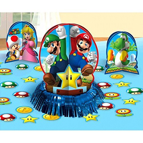 Super Mario Brothers Birthday 23-Piece Table Decorating Kit, Paper (1 Pack) by Designware by Designware