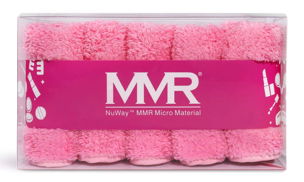 MMR-WHY PAY MORE FOR A SINGLE CLOTH? Works like an eraser! THE SOFTEST CLOTH REMOVER! Super Absorbent/Machine Washable/Removes makeup or mascara with warm water! (Baby Pink)
