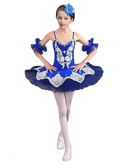 Besbomig Chicas Elegante Tul Danza Ballet Vestido De Tutu Lentejuelas Rosario Flor Falda Leotardo Baile Trajes De Rendimiento