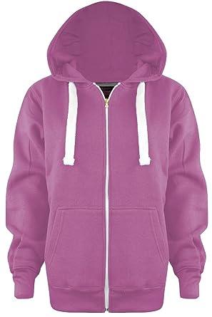 Vanilla Inc New Ladies Plus Size Plain Zip Hoodie UK Size 8-28 ... 693423d37